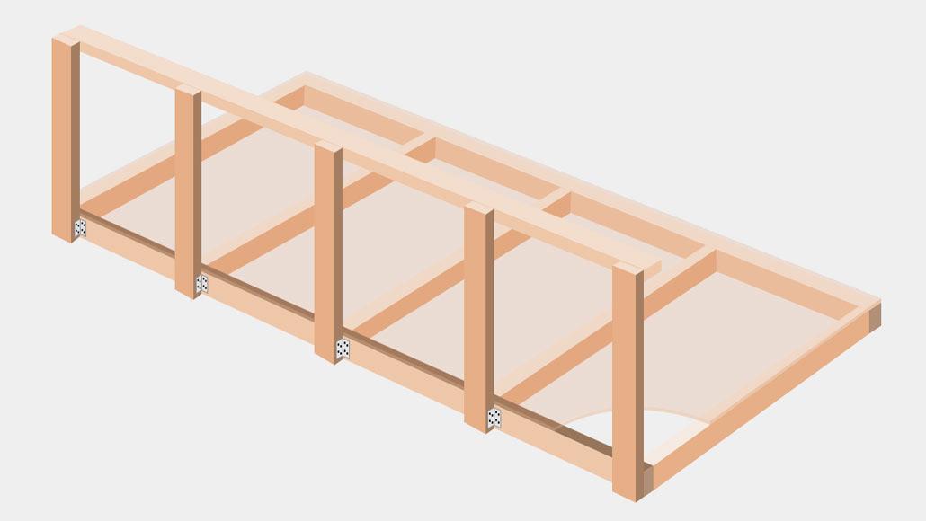 DIY Overhead Garage Storage