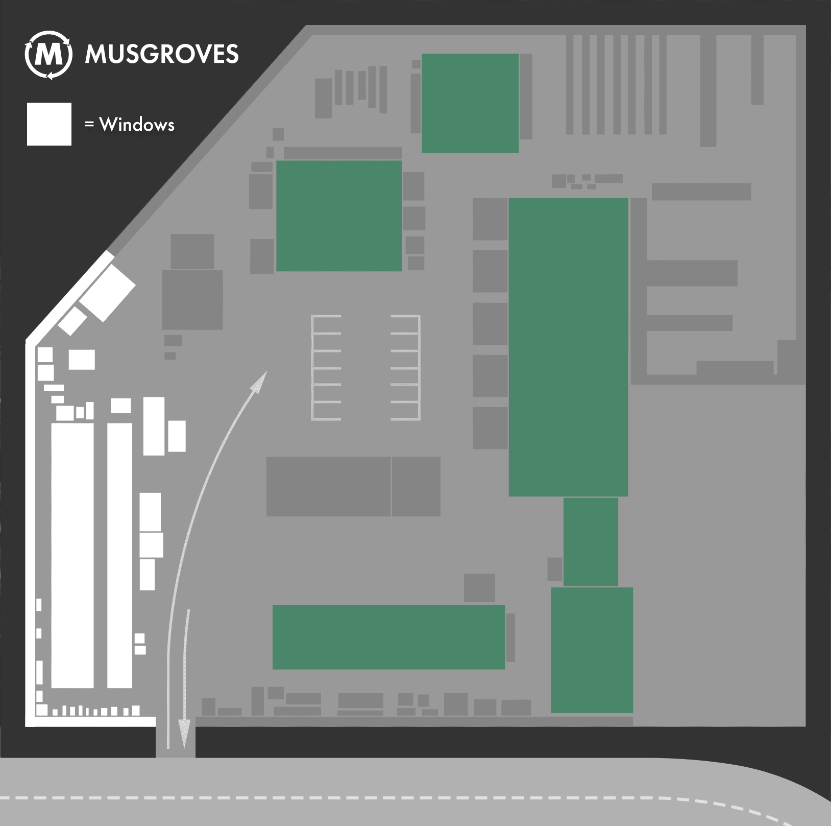 Location of windows at Musgroves